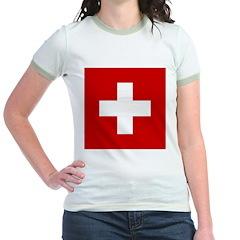 Swiss Cross-1 Jr. Ringer T-Shirt