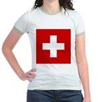Swiss Cross-1 Jr. Ringer T-Shirt