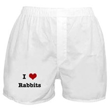 I love Rabbits Boxer Shorts