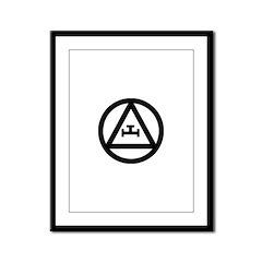 Triple Tau Framed Panel Print