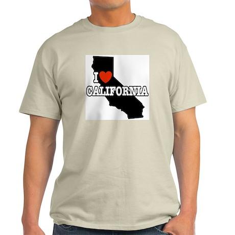I Love California Ash Grey T-Shirt