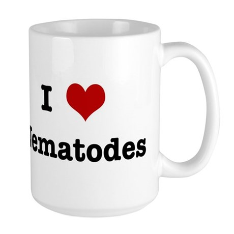 I love Nematodes Large Mug