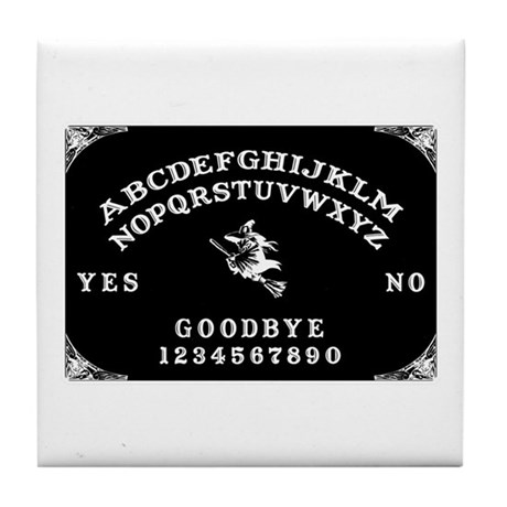 Witch Ouija Board Tile Coaster