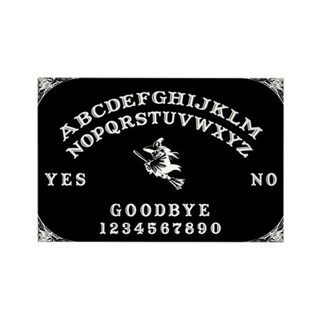 Witch Ouija Board Rectangle Magnet (10 pack)