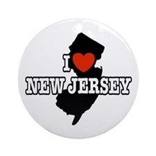 I Love New Jersey Keepsake (Round)