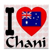 I Love Chani Tile Coaster