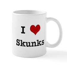 I love Skunks Mug