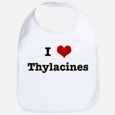 I love Thylacines Bib