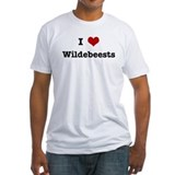 I love wildebeests Fitted Light T-Shirts