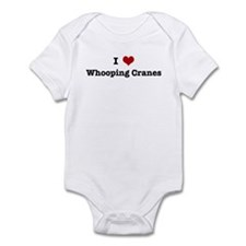 I love Whooping Cranes Infant Bodysuit