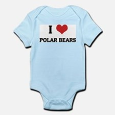 I Love Polar Bears Infant Creeper