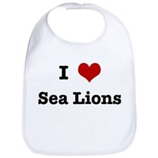I love Sea Lions Bib