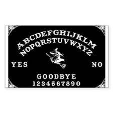 Witch Ouija Board Rectangle Decal