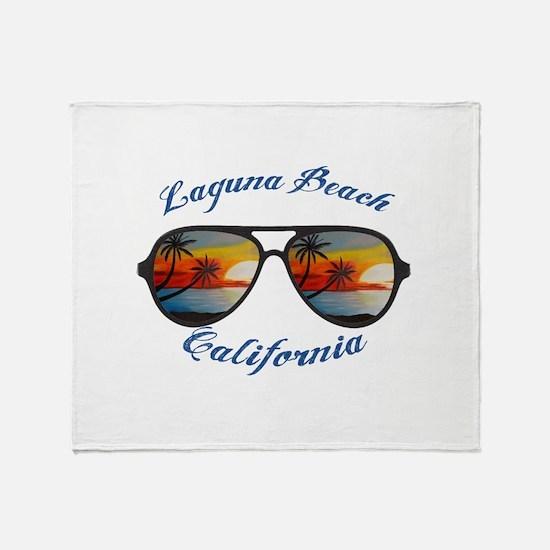 California - Laguna Beach Throw Blanket