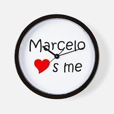Funny Marcelo Wall Clock