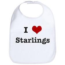 I love Starlings Bib
