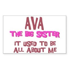 Ava - All About Big Sister Rectangle Decal