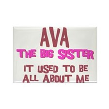 Ava - All About Big Sister Rectangle Magnet