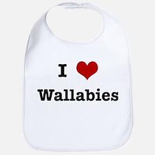 I love Wallabies Bib
