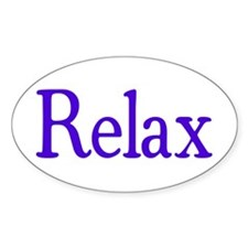 Relax Oval Decal