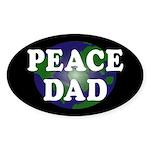 Peace Dad (oval earth bumper sticker)