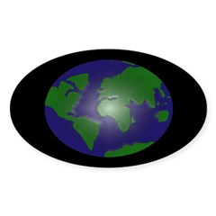 Glowing Earth bumper sticker