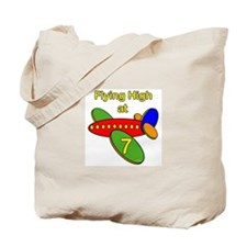 Airplane 7th Birthday Tote Bag