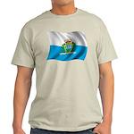 Wavy San Marino Flag Light T-Shirt