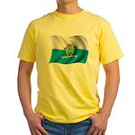 Wavy San Marino Flag Yellow T-Shirt