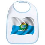 Wavy San Marino Flag Bib