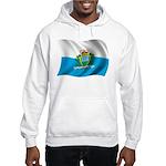 Wavy San Marino Flag Hooded Sweatshirt