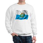 Wavy San Marino Flag Sweatshirt