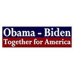 Obama-Biden, Together for America Sticker