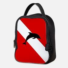 Diving Flag: Dolphin Neoprene Lunch Bag