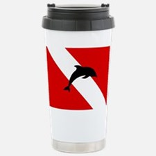 Diving Flag: Dolphin Stainless Steel Travel Mug