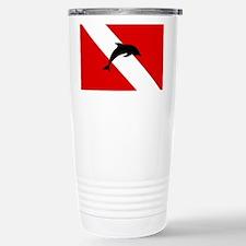 Diving Flag: Dolphin Travel Mug