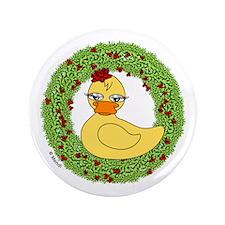 """Christmas Rubber Ducky 3.5"""" Button"""