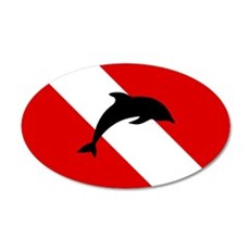 Diving Flag: Dolphin Wall Decal