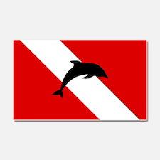 Diving Flag: Dolphin Car Magnet 20 x 12