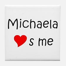 Cute Michaela Tile Coaster