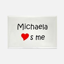 Cute Michaela Rectangle Magnet