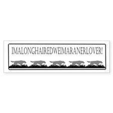 Longhaired Lover Bumper Bumper Sticker