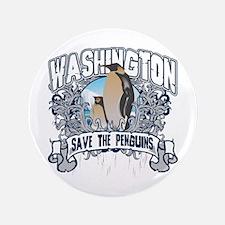 "Save the Penguin Washington 3.5"" Button"