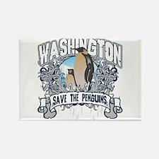 Save the Penguin Washington Rectangle Magnet