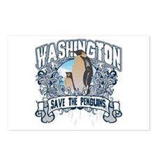 Save the Penguin Washington Postcards (Package of
