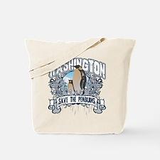 Save the Penguin Washington Tote Bag