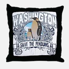 Save the Penguin Washington Throw Pillow