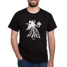 Virgo Zodiac Astrology Tattoo (Front) T-Shirt