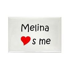 Funny Melina Rectangle Magnet