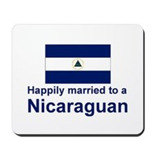 Happily Married To A Nicaragu Mousepad